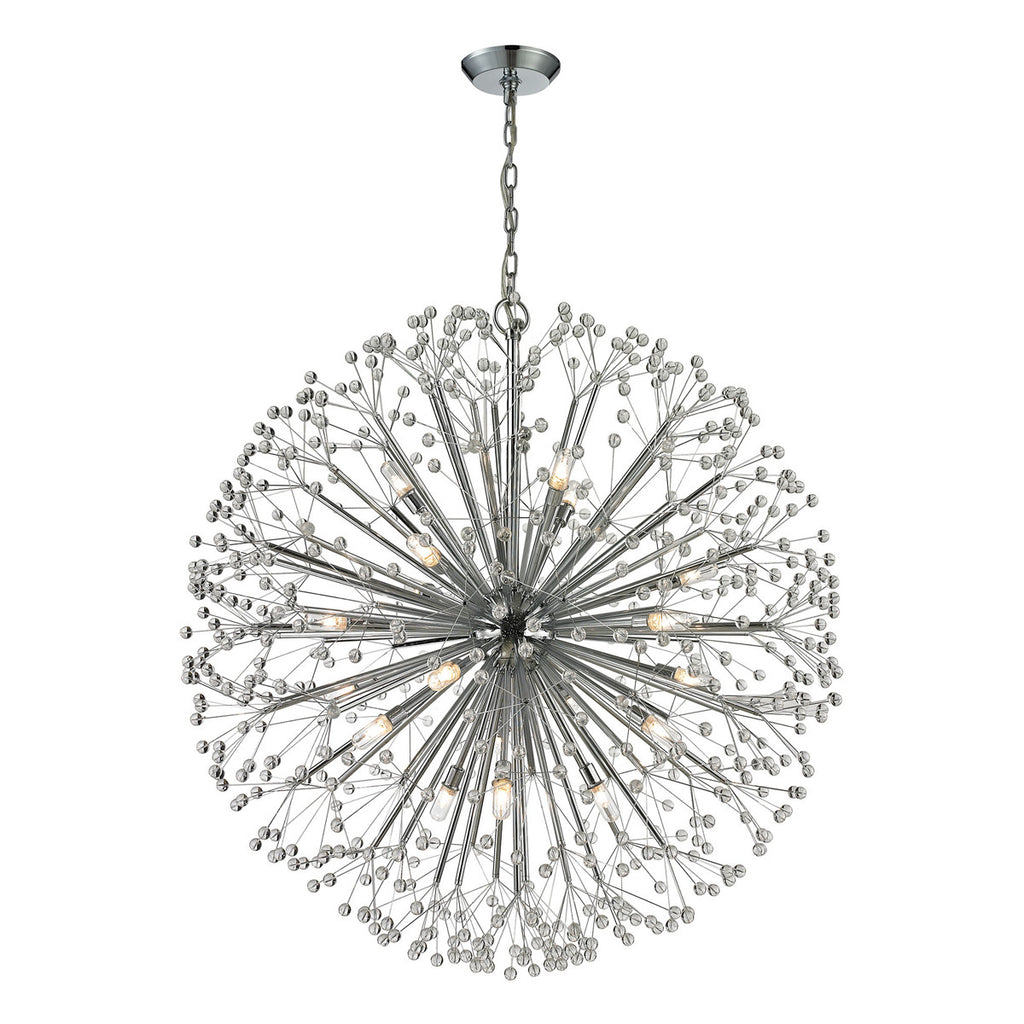 Starburst 19-Light Chandelier in Polished Chrome