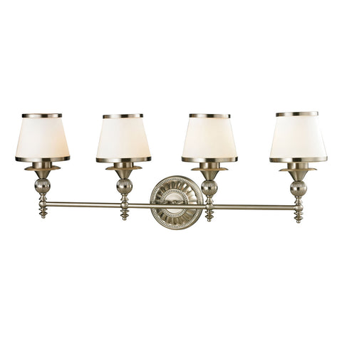 Smithfield 4-Light Brushed Nickel Bath