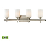 Dawson 4-Light Brushed Nickel Bath