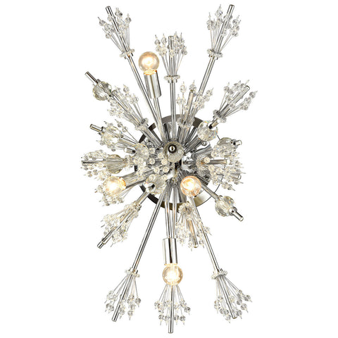 Starburst 4-Light Wall Sconce in Polished Chrome