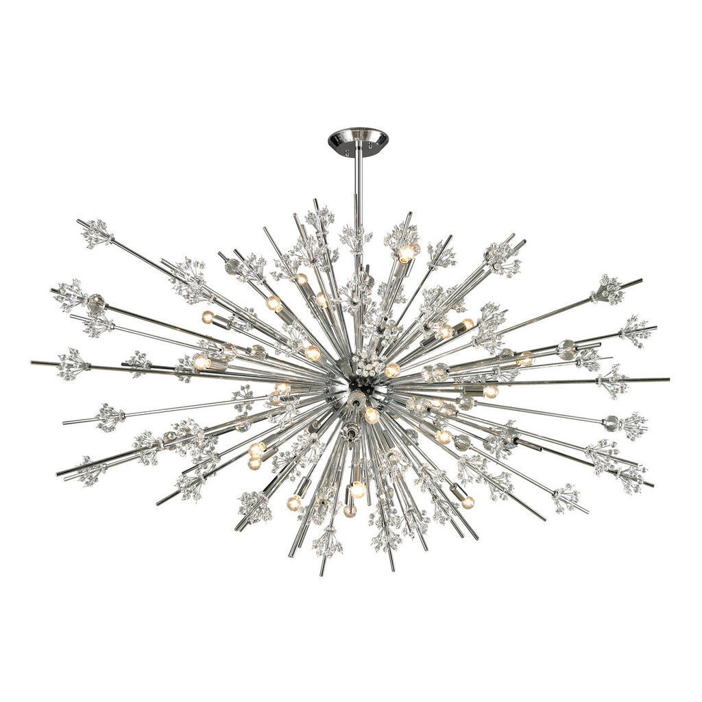 Starburst 31-Light Chandelier in Polished Chrome