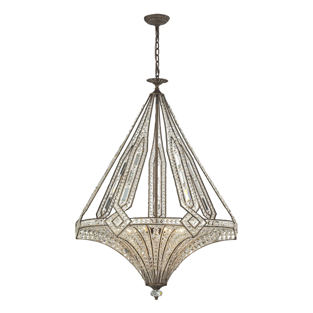 Jausten 7-Light Chandelier in Antique Bronze