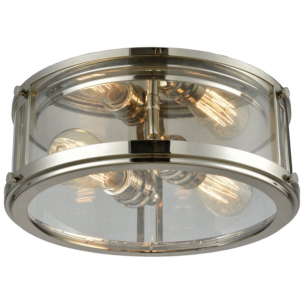 Coby 2-Light Flush with Polished Nickel