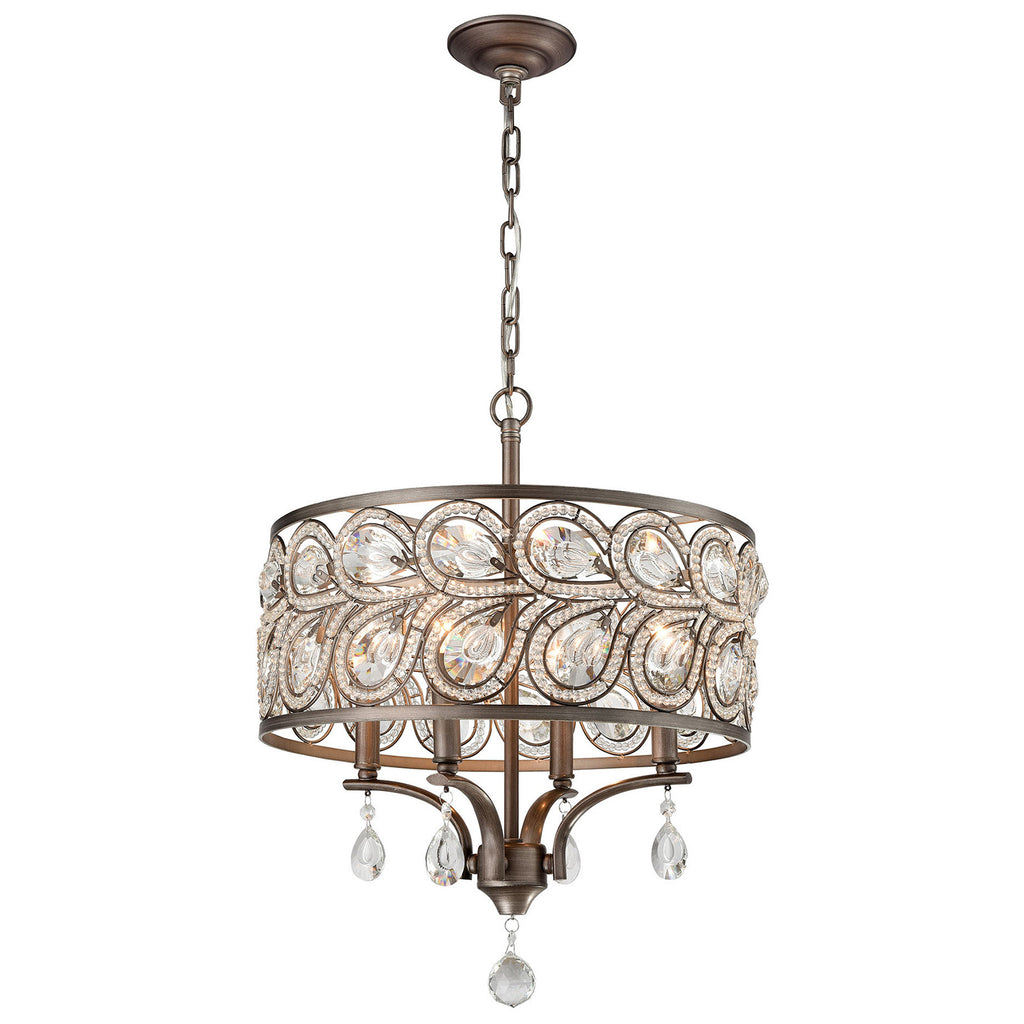 Evolve 4-Light Chandelier in Weathered Zinc