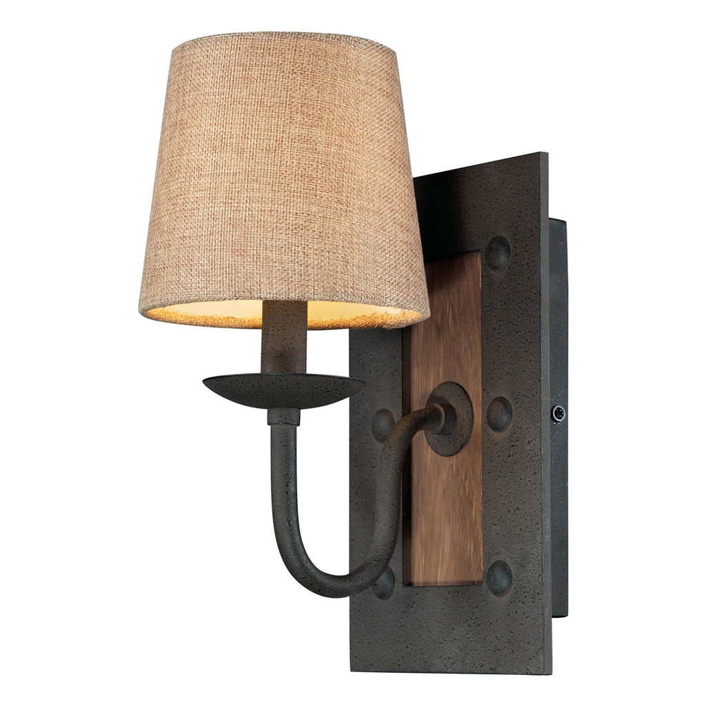 Early American 1-Light Sconce in Vintage Rust