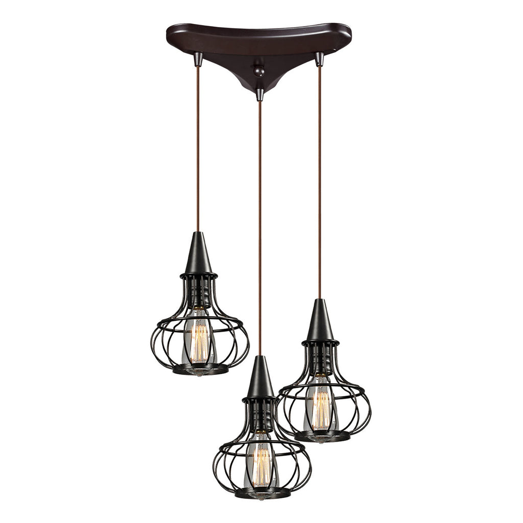 Yardley 3-Light Chandelier in Oil Rubbed Bronze