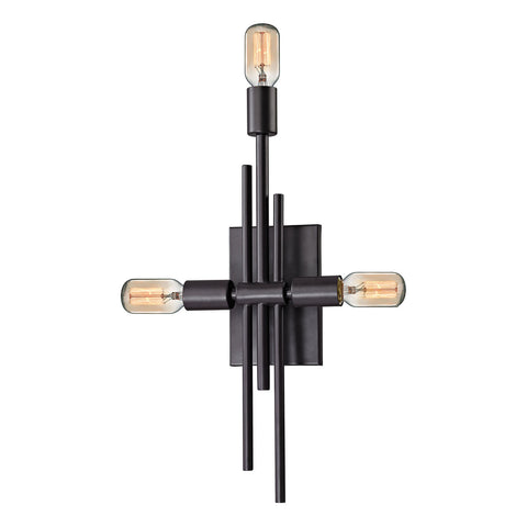 Parallax 3-Light Sconce in Oil Rubbed Bronze