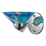 Refraction 1-Light Polished Chrome Sconce