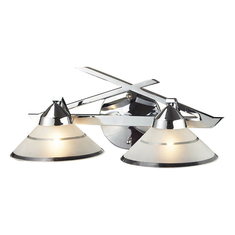 Refraction 2-Light Polished Chrome Wall Bracket