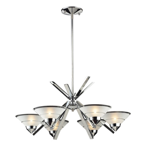 Refraction 6-Light Polished Chrome Chandelier