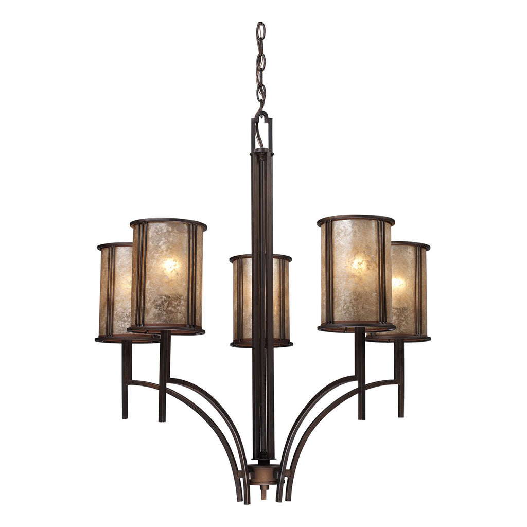 Barringer 5-Light Chandelier in Aged Bronze