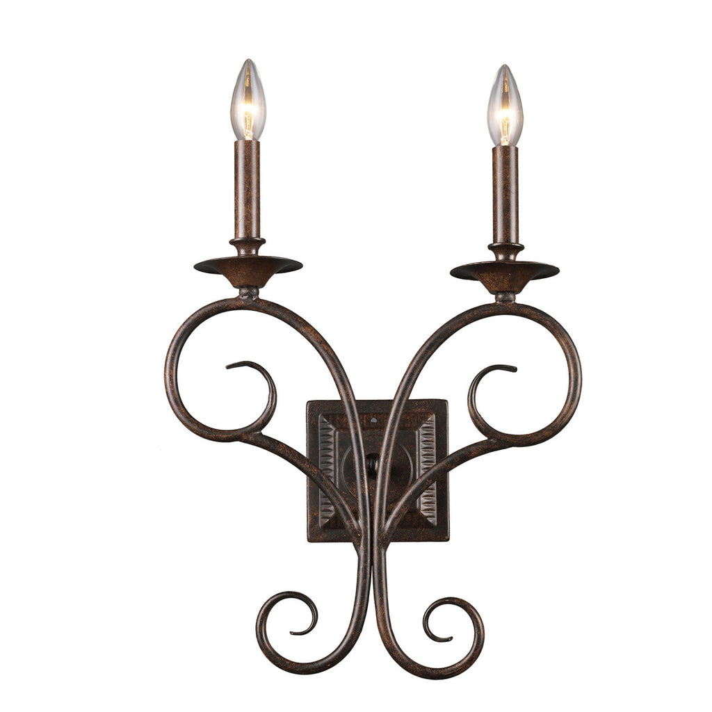 Gloucester 2-Light Sconce in Antique Bronze