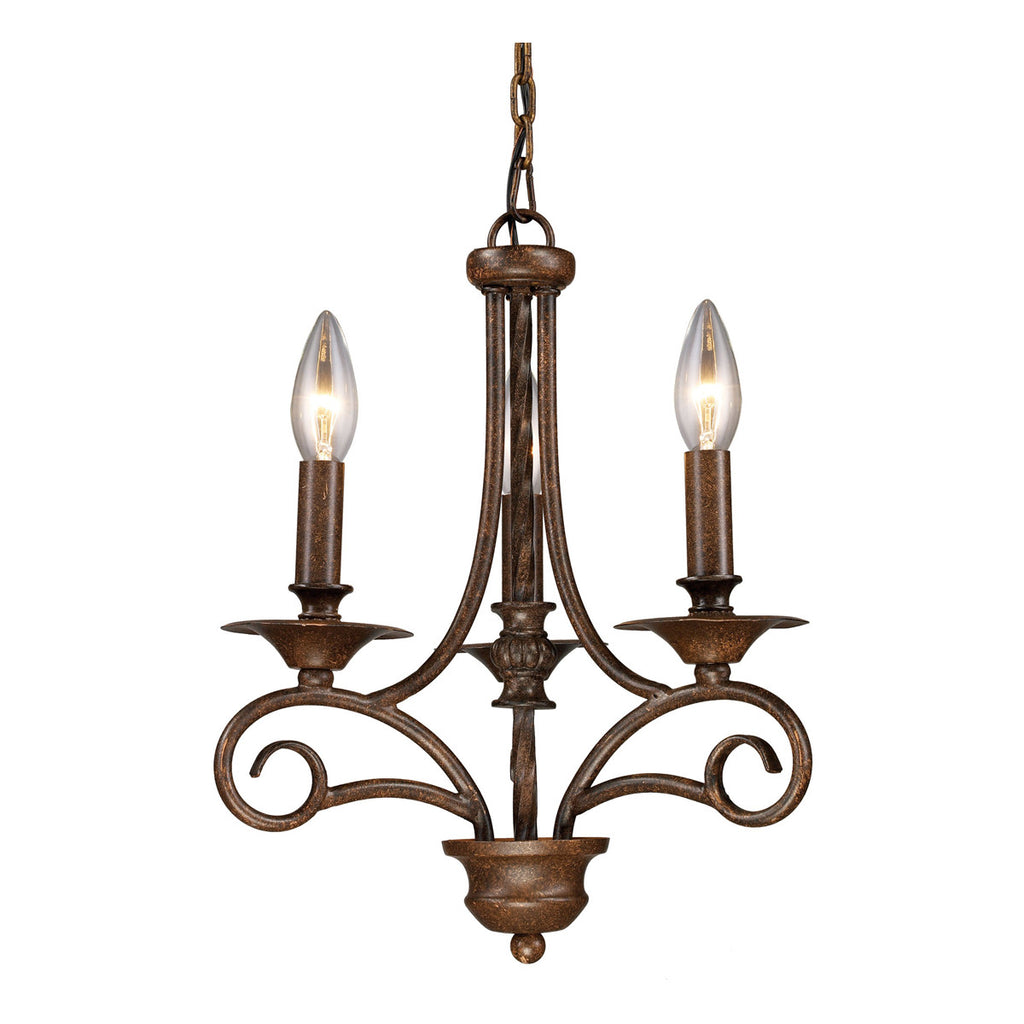 Gloucester 3-Light Antique Bronze Chandelier