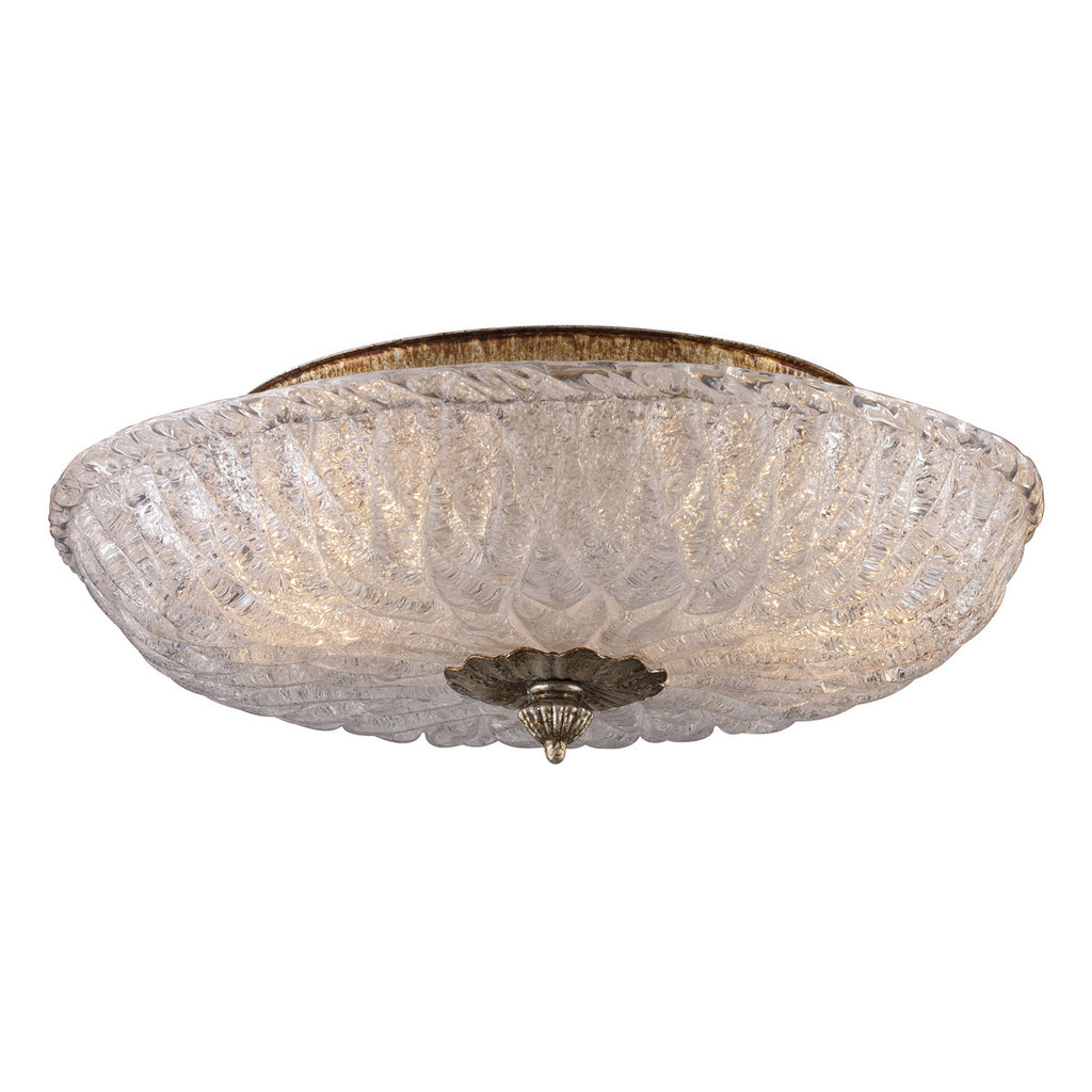Providence 2-Light Flushmount in Antique Silver Leaf