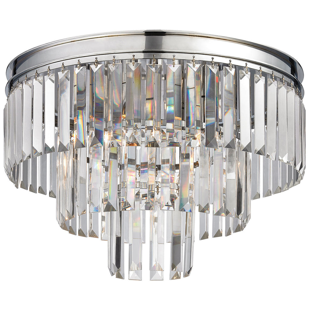Palacial 3-Light Semi Flush in Polished Chrome