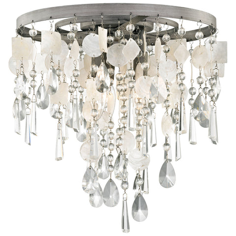 Alexandra 3-Light LED Semi Flush with Weathered Zinc