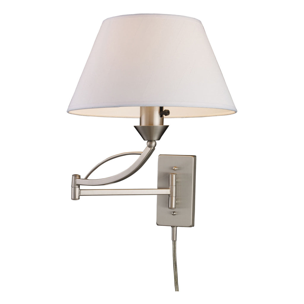 Elysburg 1-Light Satin Nickel Swingarm Sconce