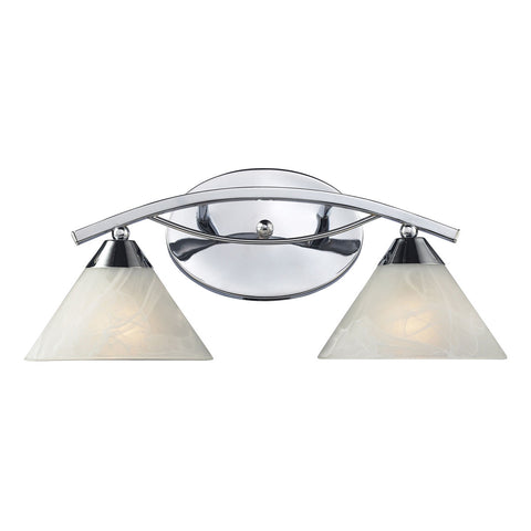 Elysburg 2-Light Vanity in Polished Chrome
