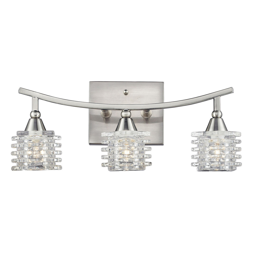 Matrix 3-Light Bathbar in Satin Nickel