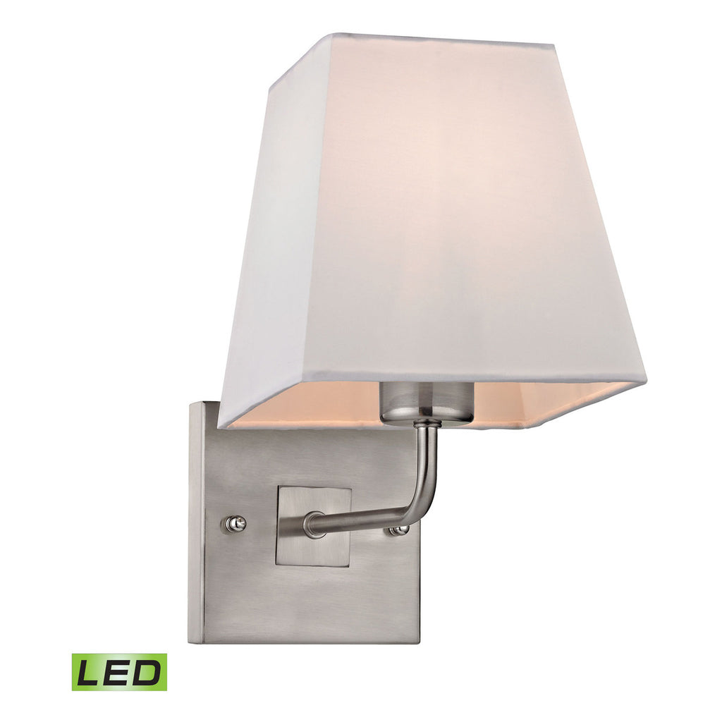 Beverly LED 1-Light Sconce in Brushed Nickel