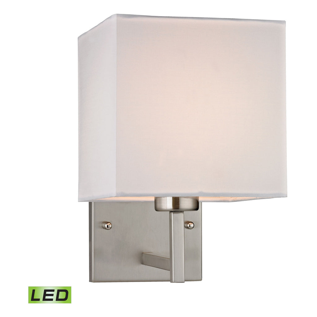 Davis LED 1-Light Sconce in Brushed Nickel