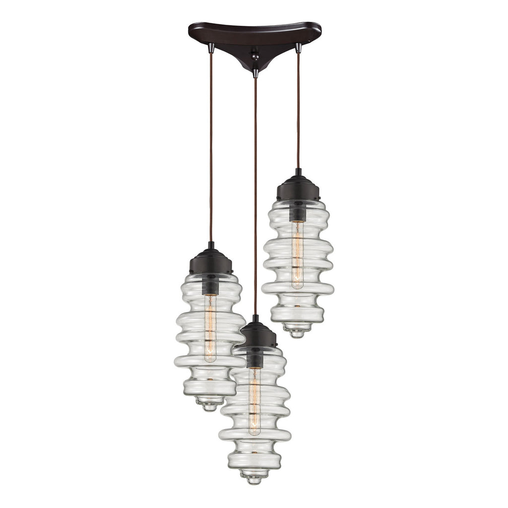 Cipher 3-Light Pendant in Oil Rubbed Bronze