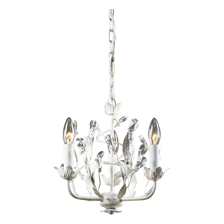 Circeo 3-Light Antique White Chandelier