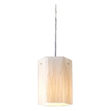 Modern Organics 1-Light White Sawgrass Pendant