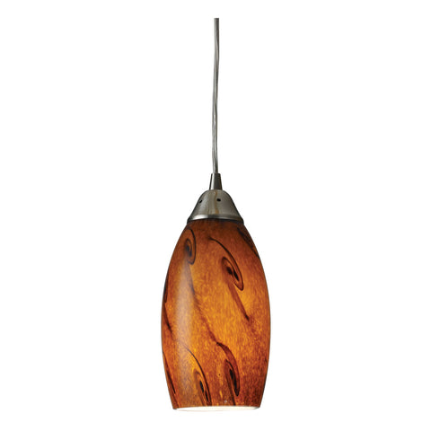 Galaxy 1-Light Satin Nickel Pendant