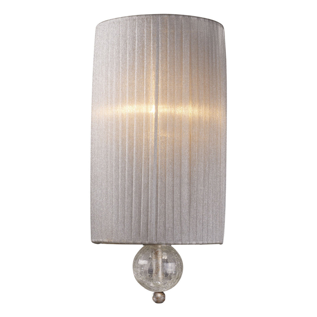 Alexis 1-Light Sconce in Antique Silver