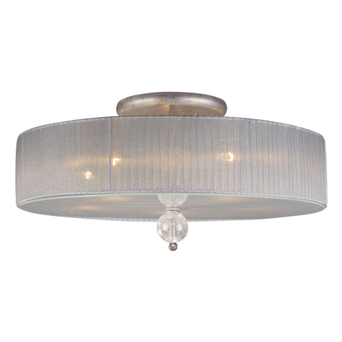 Alexis 5-Light Semi-Flush in Antique Silver