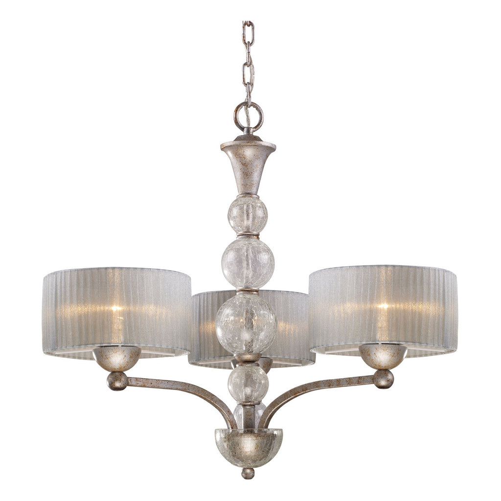 Alexis 3-Light Chandelier in Antique Silver