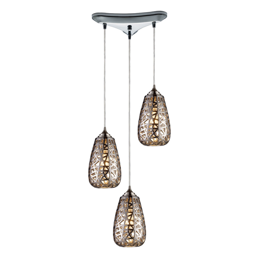 Nestor 3-Light Pendant in Chrome