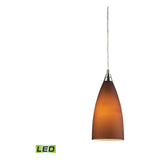 Vesta 1-Light Satin Nickel Pendant