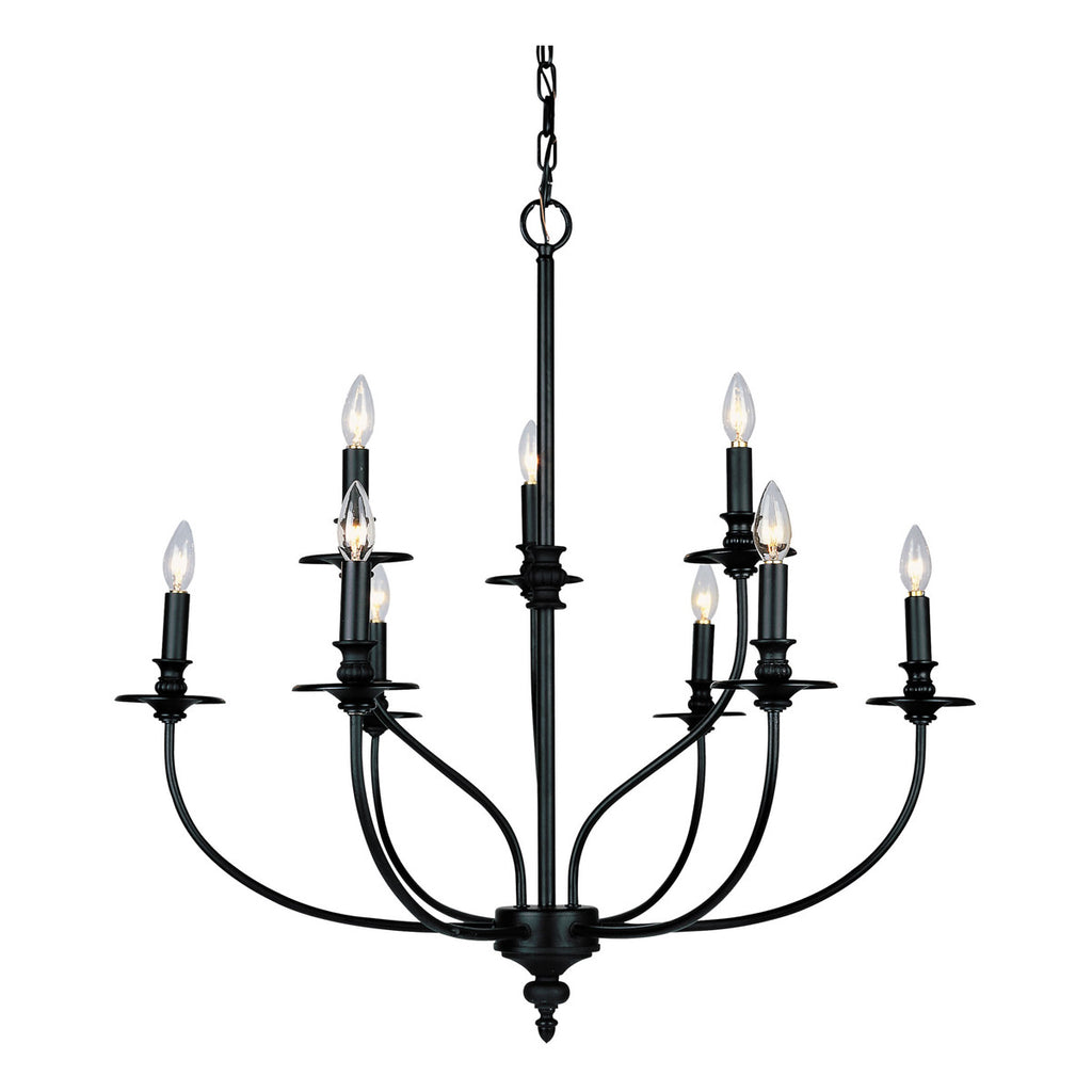 Hartford 9-Light Chandelier in Oil Rubbed