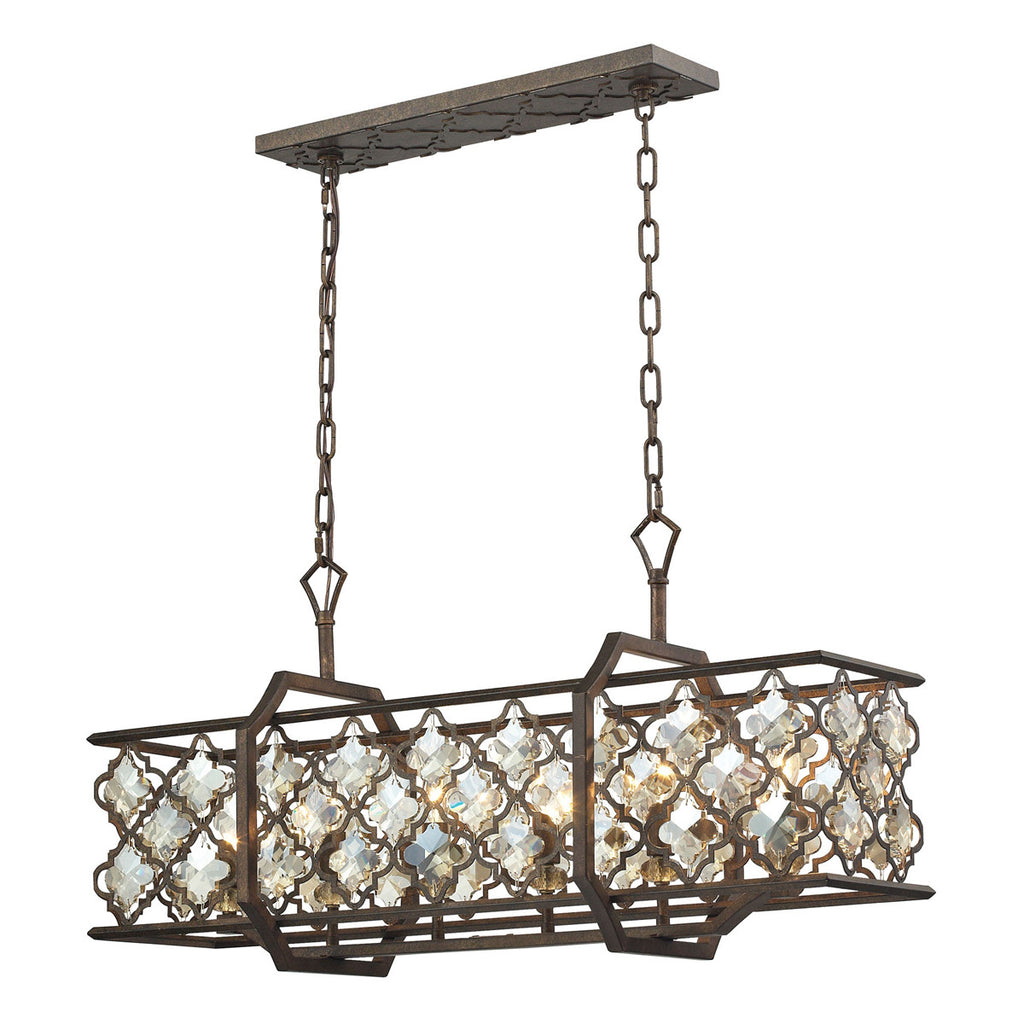 Armand 6-Light Island in Weathered Bronze