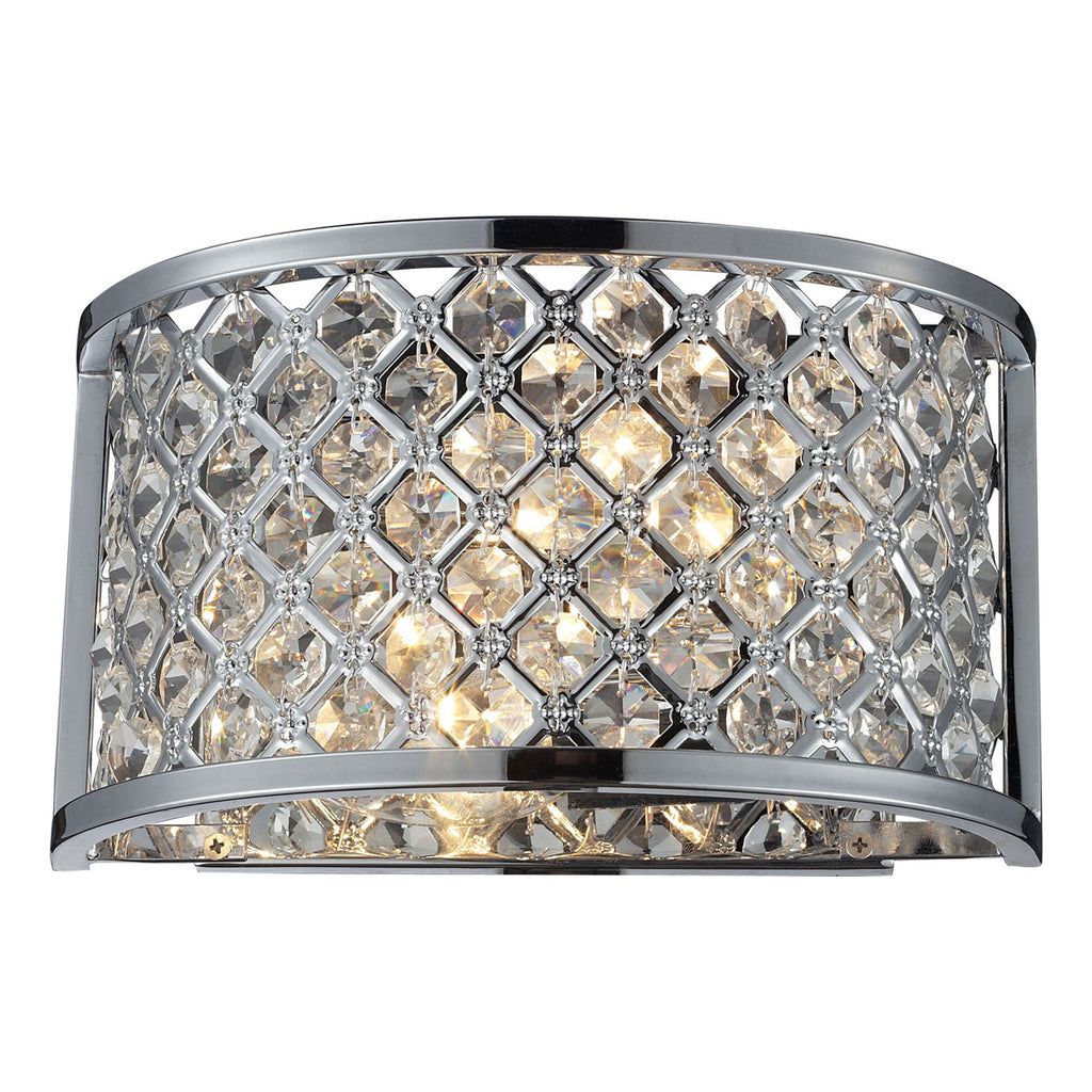 Genevieve 2-Light Wall Sconce in Polished Chrome