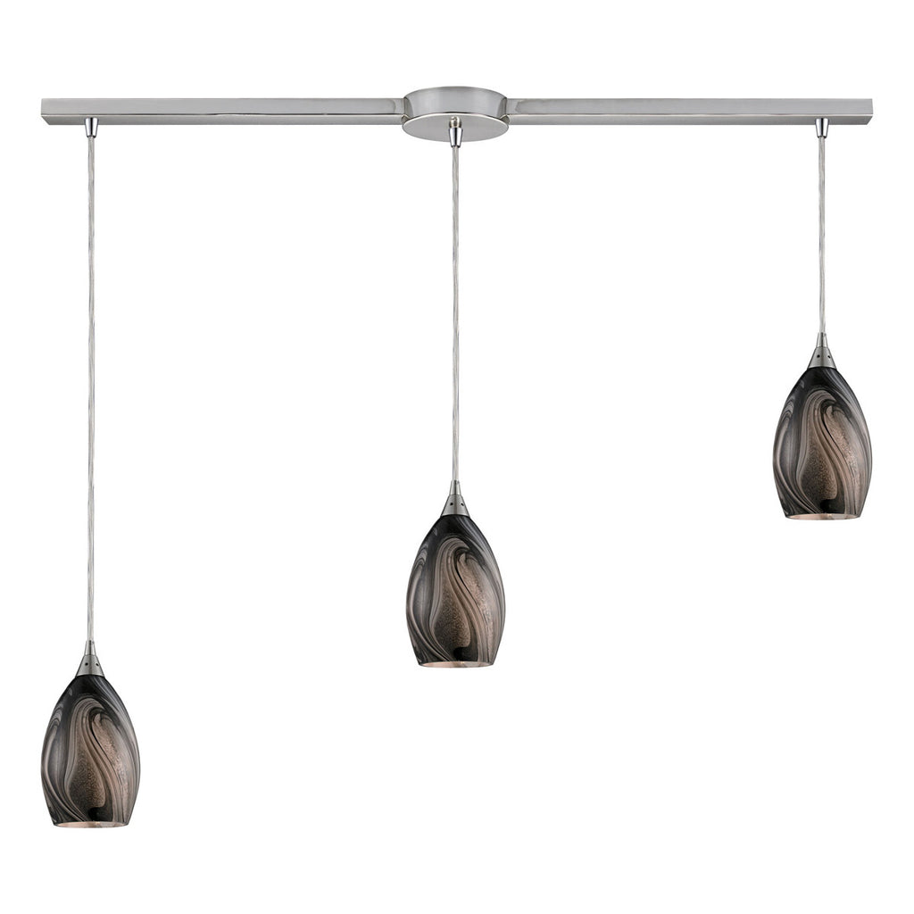 Formations Linear 3-Light Satin Nickel Pendant