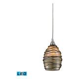 Vines 1-Light Satin Nickel Pendant