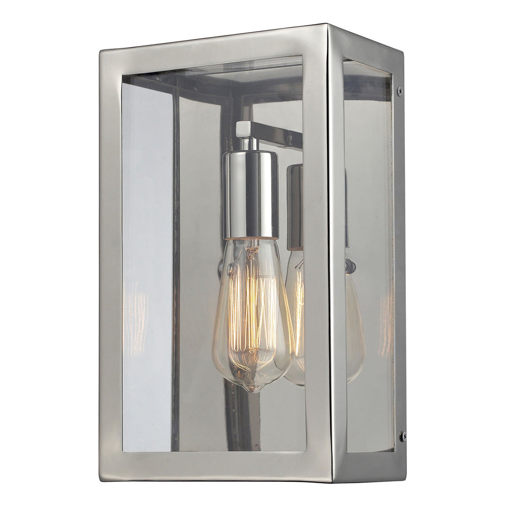 Parameters-Nickel 1-Light Wall Sconce in Polished Chrome