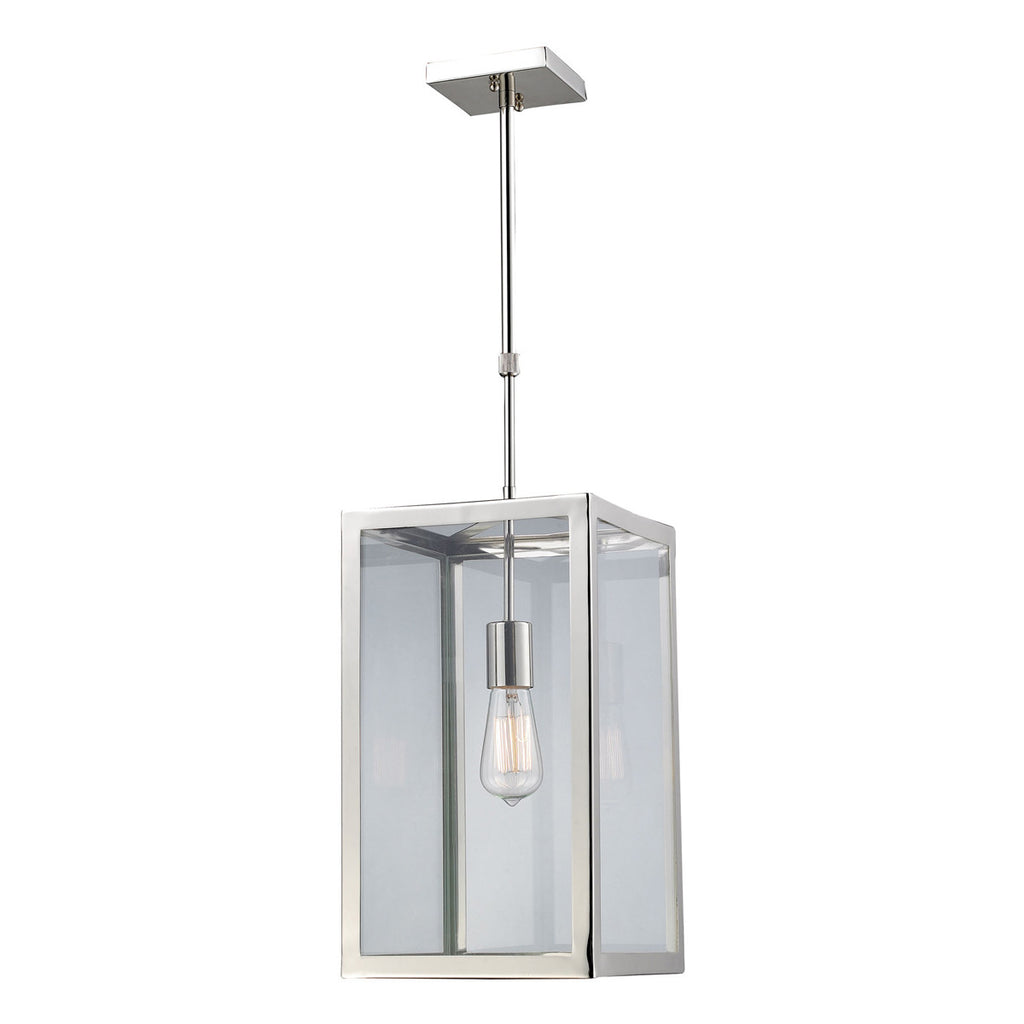 Parameters-Nickel 1-Light Pendant in Polished Chrome