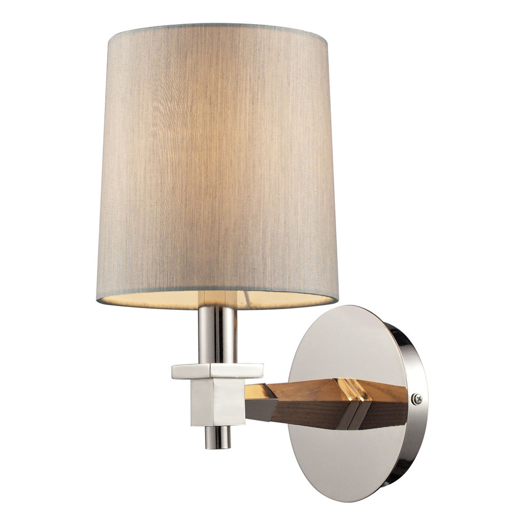 Jorgenson 1-Light Wall Sconce in Polished Nickel