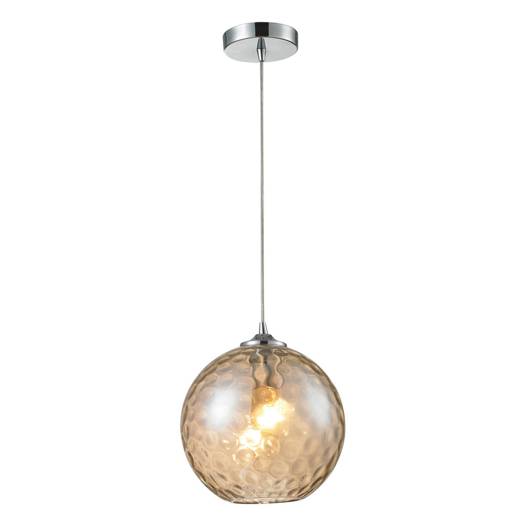 Watersphere 1-Light Polished Chrome Pendant