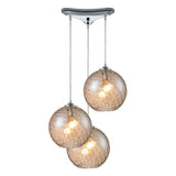 Watersphere 3-Light Polished Chrome Pendant