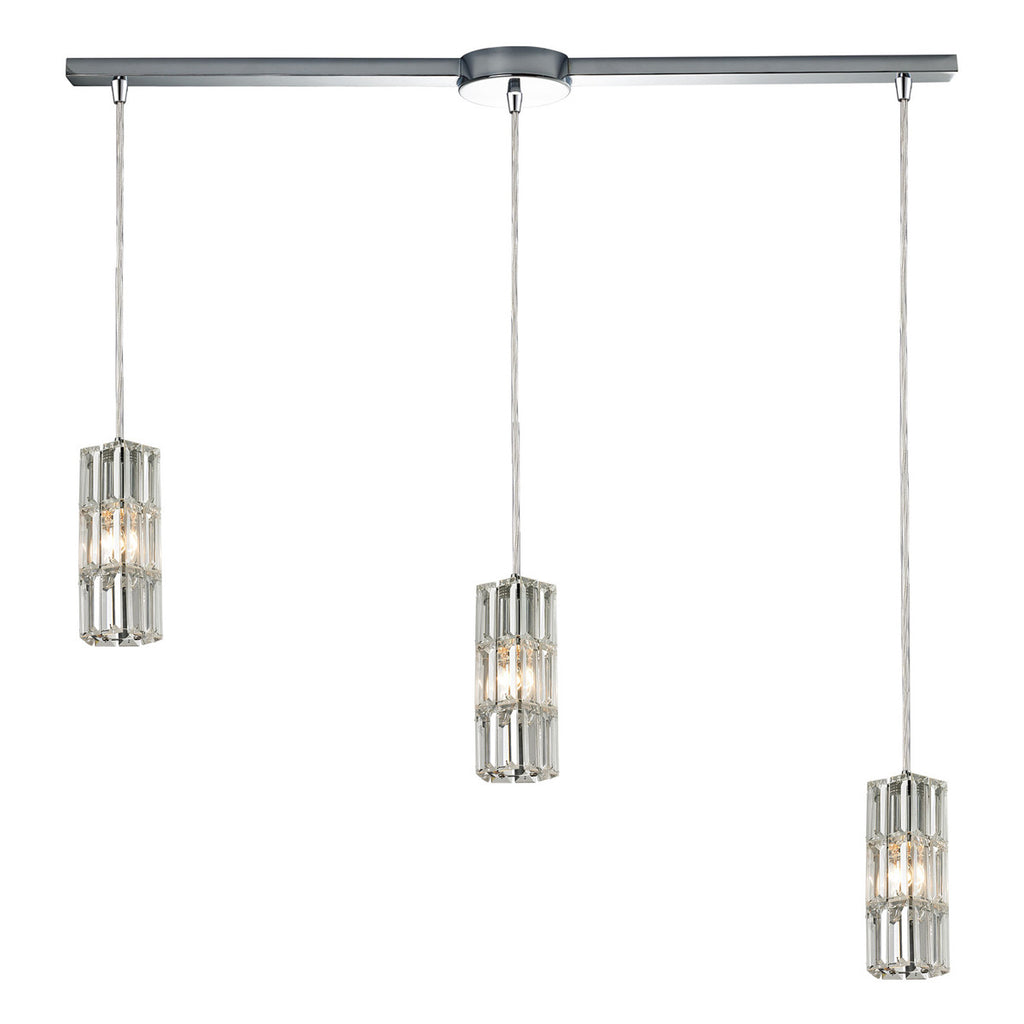 Cynthia 3-Light Chandelier in Polished Chrome