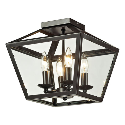 Alanna 4-Light Semi flush in Oil Rubbed Bronze