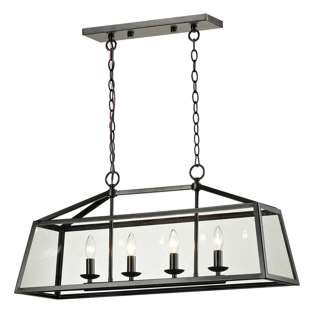 Alanna 4-Light Pendant in Oil Rubbed Bronze