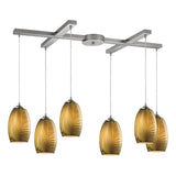 Tidewaters 6 Lighting Pendant in Satin Nickel