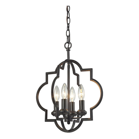 Chandette 4-Light Pendant in Oil Rubbed Bronze
