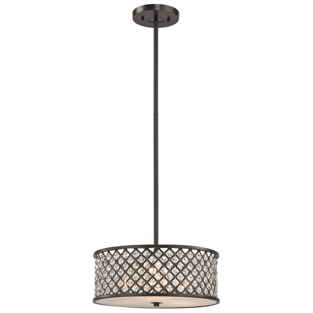 Genevieve 3-Light Chandelier in Oil Rubbed Bronze